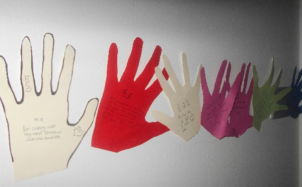 Random acts of Kindness palmprints